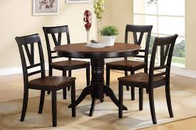 Cherry Wood Round Dining Table MonclerFactoryOutletscom - Black dining table with wood top
