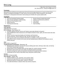 Restaurant Waiter Resume Sample by Resumes For Servers Tips Improving Your Inside How To Write A