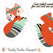 fox fabric wallpaper gift wrap spoonflower