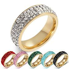 blue green rings images Wedding rings silver black blue green pink red crystal for women jpg