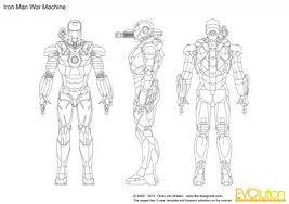 iron man war machine blueprint model sheet blueprints colection