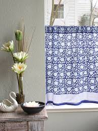 blue and white cafe curtain asian kitchen tier curtains floral