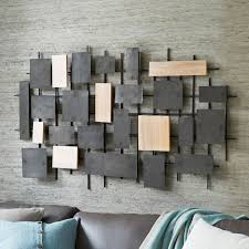 extremely creative metal wood wall decor with wood made of