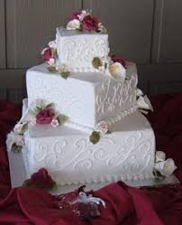 Square Wedding Cakes Lily U0027s Cakes And Breads White Square Wedding Cakes Decorate