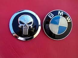 punisher bmw replacement car emblem metal badge bmw logo not