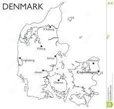 vector map of denmark stock vector image 81495819