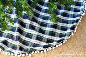 plaid tree skirt diy christmas tree skirt