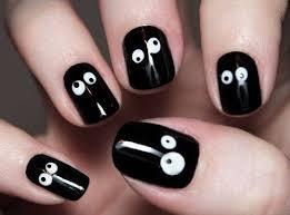pictures halloween nail art inspiration googly eyes nail art
