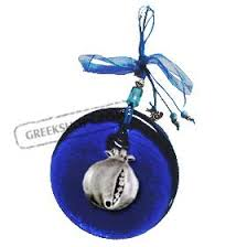 greekshops products glass blue glass luck