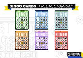 bingo card free vector art 7705 free downloads