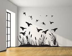 duck wall decal etsy landing mallard wetland ducks wall decal silhouettes living room bedroom boy girl nursery baby