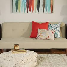 Click Clack Couch Taupe Woven Brock Convertible Sofa World Market