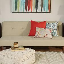 taupe woven brock convertible sofa world market