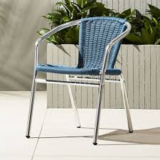 Cb2 Patio Furniture by Rex Blue Stacking Chair Cb2
