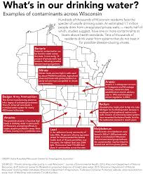 Wisconsin Map Cities by Safe Clean Drinking Water Eludes Many Wisconsinites