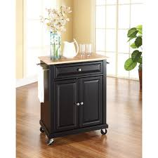 home styles dolly madison black kitchen cart with storage 4528 95