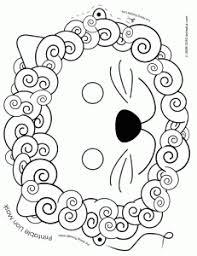 coloring beautiful lion masks print mask coloring