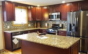 giallo fiorito granite with oak cabinets countertops and kitchen cabinets in boston and marshfield