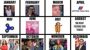 Meme Calendar - meme calendar 2017 by andreagumball on deviantart