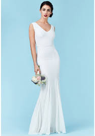goddiva dresses sequin and chiffon maxi wedding dress in white