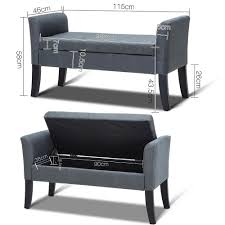 grey storage ottoman seat footstool bench stool storage ottoman grey u2013 discount house
