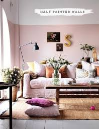 Interior Wall Colors Living Room - best 25 half painted walls ideas on pinterest pink wall paints