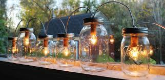 jar lights banner style modern industrial rustic