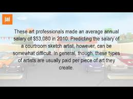 how much does it pay to be a sketch artist youtube
