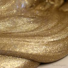 silver gold slime for the new year