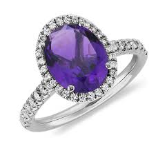 amethyst diamond engagement ring amethyst and diamond ring in 18k white gold 10x8mm blue nile