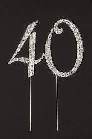 40 cake topper for 40th birthday or anniversary party