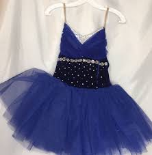 Curtain Call Dance Costumes by Dance Costume Sz Asm Royal Blue Ballet Tutu By Curtain Call C376