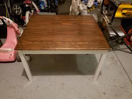 how to stain pine table stained oak top with yellow pine legs table for the