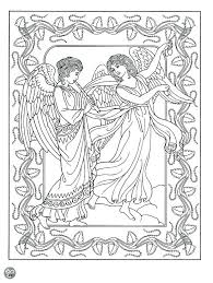 coloring page angel visits joseph coloring pages angels denvermetro info