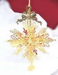 gold plated christmas ornaments 1977 snowflake christmas ornaments my collection