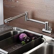 articulating kitchen faucet kes brass single handle pot filler articulating faucet swing spout