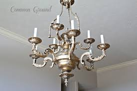 Painted Chandelier Common Ground Faux Painted Chandelier
