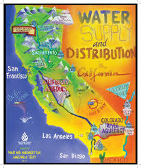 Los Angeles Map Poster by California Water Supply Map California Map