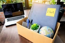 bureau concept boîte en de bureau employé licencié du bureau concept de