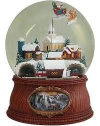 don t miss this bargain santa in sleigh musical snowglobe multi