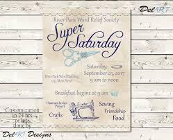 super saturday flyer relief society activity invitation or
