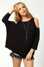 Shoulder Top - boohoo womens cut out shoulder top ebay