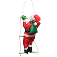 newest climbing santa claus with ladder outdoor christmas
