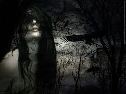 halloween raven background dark raven painting
