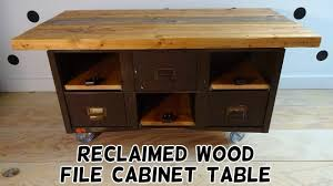 Reclaimed Wood File Cabinet Reclaimed Wood File Cabinet Table Flip