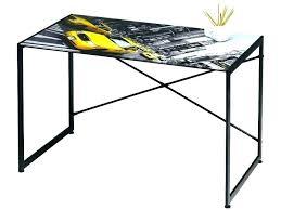 bureau dessus verre bureau ikea plateau verre plaque table exterieur design bois