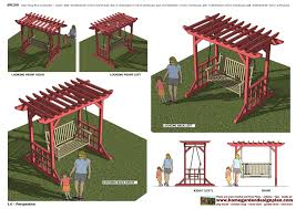 arbor swing plans free home garden plans furniture arbor swing construction graden home