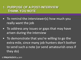 thank you note post interview