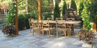 Flagstone Patio Benefits Cost  Ideas Landscaping Network - Backyard stone patio designs