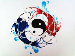 yin and yang koi by xinje on deviantart